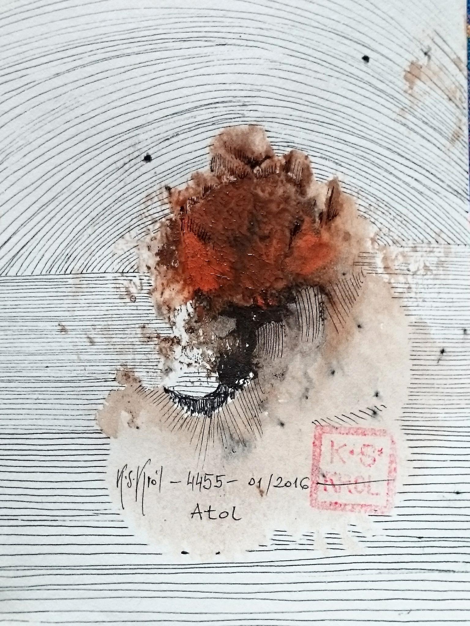 4455, Atol,tech. miesz., 13x9 cm, 2016