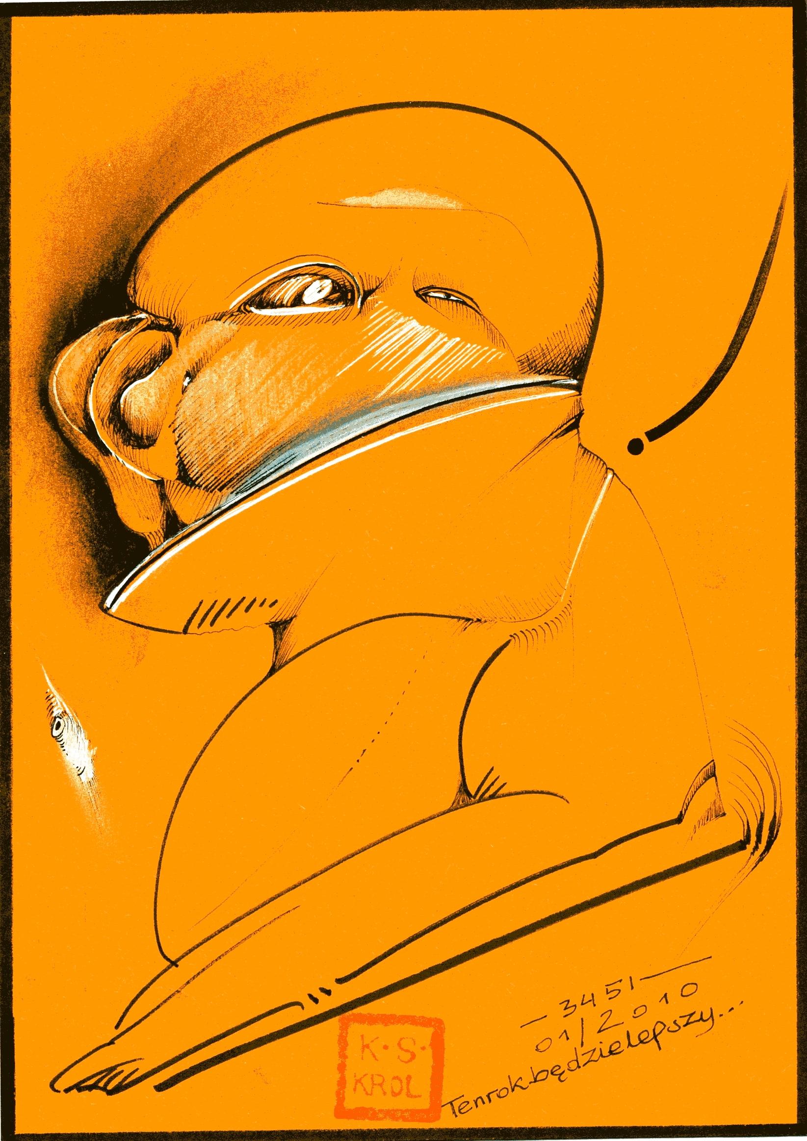 K.S.Król, 3451 Ten rok będzie lepszy, tusz, 18x15 cm, 2010